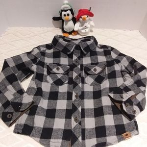 Canadiana flannel shirt with elbow patches